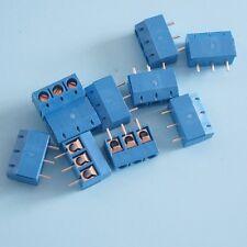 50PCS Screw Terminal Block Connector 3Pins 5mm Pitch KF301-3P 5.08 300V/16A