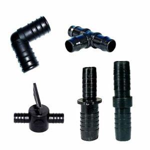 FITTINGS FOR FLEXIBLE POND HOSE PIPE JOINER/JOINTER/SPLITTER/VALVE CONTROL PUSH