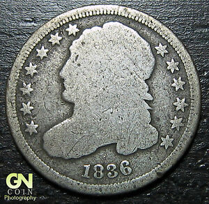 1836 P Capped Bust Dime  --  MAKE US AN OFFER!  #O4377