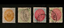 Danish West Indies 1874-79 Sc# 5, 6, 8, 9 Stamps
