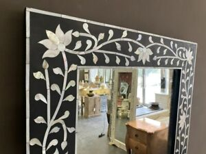 NEW Mother of pearl inlay long mirror - Black