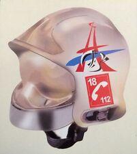 Autocollant casque pompier France