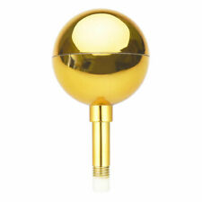 """New listing 3"""" Flagpole Gold Ball Top Finial Ornament for 20' 25' 30' Aluminum Flag Pole"""