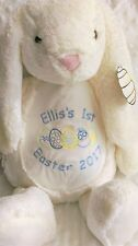 Personalised 'My 1st Easter' Bunny teddy.embroidered with name. baby gift.
