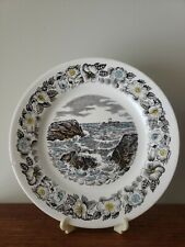 Vintage Egersund Norway Plate with Cliffs, Water Scene