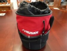 Husky round tool bag 9x12 inch contractors tool bag, nos