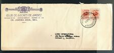 1254 MEXICO Cover Lions Clubs 1958 Ciudad Jimenez Chih. to Chicago USA 1950-1975