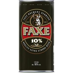 24 Dosen Faxe Danish Extra Strong 10% a 1,0L Starkbier inc. 6 € EINWEG Pfand