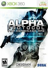 XBOX 360 Alpha Protocol Video Game Multiplayer Online RPG Action - Full 1080p HD