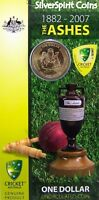 2007 ASHES CRICKET Coin on Card