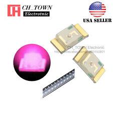 100PCS 1206 (3216) Pink Light SMD SMT LED Diodes Emitting Ultra Bright USA