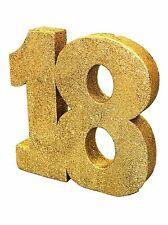 Gold Glitter 18th Birthday/Anniversary Celebration Centrepiece Table Decoration