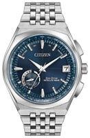 Citizen Eco-Drive Men's Satellite Wave GPS Silver-Tone 44mm Watch CC3020-57L