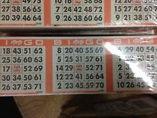 Bingo Cards Paper Lottery Comm stamp - removed from svc 500 3x1 sheets 180823
