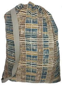 "Owen Sewn Modern Khaki Canvas Laundry Bag 22""x 28"" with Shoulder Strap"