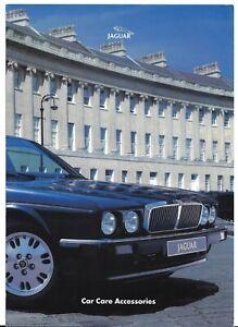 Jaguar Car Care Accessories 1994-95 UK Market Foldout Sales Brochure XJ40