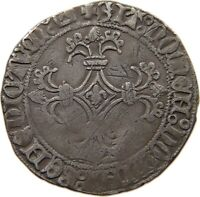 FLANDERS DOUBLE PATARD STUIVER Karel de Stoute 1467-1477 #t89 029