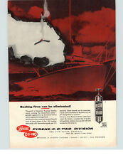 1957 PAPER AD Pyrene CO2 C-O-TWO Fire Extinguisher Motorboat Motor Boat Yacht