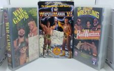 Vintage WWF WCW AWA Wrestling VHS TAPE LOT Wrestlemania War Games Road Warriors