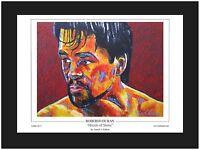 Boxing Roberto Duran Limited Edition Art Print ~ (No Of KO's ) ~ Killian Art