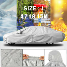 4.7x1.8x1.5m Full Car Cover Snow UV Rain Resisant Outdoor Breathable Waterproof