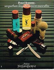 PUBLICITE ADVERTISING 045  1979  YVES SAINT LAURENT parfum ligne homme after-sha