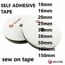 Velcro Self Adhesive Sticky Tape Velcro Sew On Hook & Loop Various Width Lengths