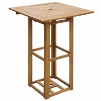 "vidaXL Acacia Wood 29.5"" Square Bar Table Outdoor Garden Patio Dining Furniture"