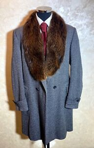 Extremely Expensive Gucci Tom Ford Era Fur Collar Coat Overcoat Size 52R (42-US)