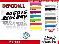 DEFQON 1 - No Guts No Glory 85x210mm Aufkleber, Sticker, Autocollant, Étiquette