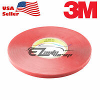 100FT 3M VHB 4905 5mm width Double Sided Adhesive Mounting Tape Clear Heavy Duty