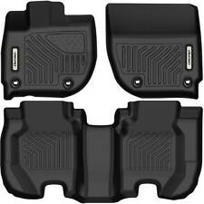 Oedro Floor Mats Liners Tpe fit for 2015-2020 Honda Fit All-Weather Black F&R