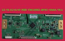 1 PC USED LG V6 32/42/47 FHD TM120HZ 6870C-0368A V0.6 #CUX