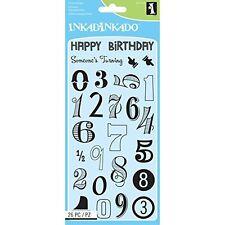 Inkadinkado Clear Stamps - Birthday Numbers 60-31318 -#302