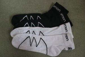 2 Pairs Salomon XA Pro Trail Running socks 6-9 White & Black