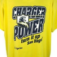 San Diego Chargers T Shirt Vintage 90s NFL Football Turn It Up Made In USA XL