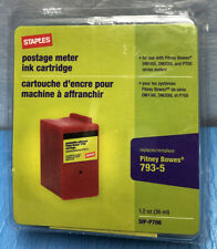 Staples Postage Meter Red Ink Cartridge 1.2 oz. Replaces Pitney Bowes 793-5