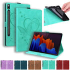 For Samsung Galaxy Tab A A7 S7/S7 Plus Tablet PU Leather Flip Stand Case Cover