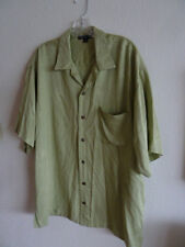 Port Authority Hawaiian Shirt  Woven in Palm Trees in Fabric Green  L