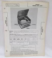 Vintage Photofact Folder Crosley Models 56TS & 56TR Radio Parts Manual