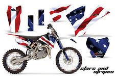 Graphics Kit Decal Sticker Wrap + # Plates For KTM SX85 SX105 2004-2005 USA FLAG