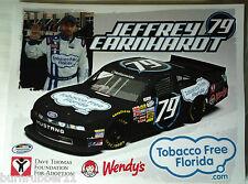 "2013 JEFFREY EARNHARDT ""TOBACCO FLORIDA"" #79 NASCAR NATIONWIDE SERIES POSTCARD"