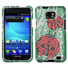 Straight Talk Samsung Galaxy II 2 S959G Crystal BLING Case Phone Cover Lady Bug