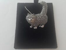 A40 Standing Cat on a 925 sterling silver Necklace Handmade 30 inch chain