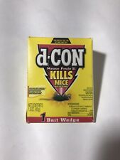 New listing D-Con Mouse Prufe Ii 1.5 oz Wedge Packs Mice Bait - Brodifacoum Nos