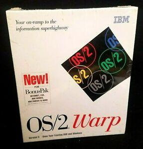 IBM OS/2 Warp Version 3 Operating System Plus Bonus Pak BRAND NEW SEALED! RARE