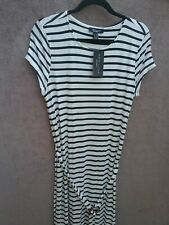BNWT Size 16 New Look Maternity Navy & White Mix Stripe Dress