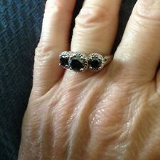 2 Cttw Black Diamond Sterling Silver Ring