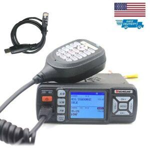 BAOJIE BJ-318 Mini Car UHF VHF Dual Band Mobile 2 Way Ham Radio Walkie Talkie