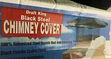 Draft King Cbo18 Round Bolt On Black Galvanized Steel Single Flue Chimney Cap, 1